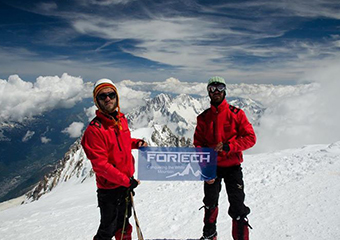 Fortech`s developers on top of Mont Blanc