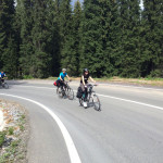 Fortech team cycling in Transalpina
