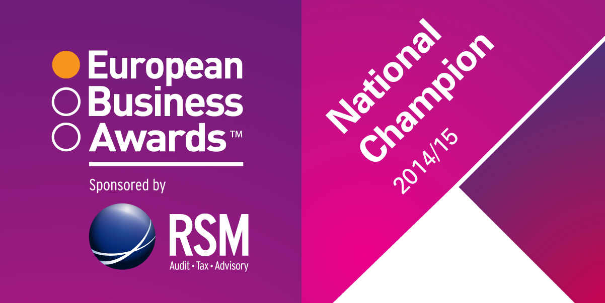 National Champion for the European Business Awards 2014/2015