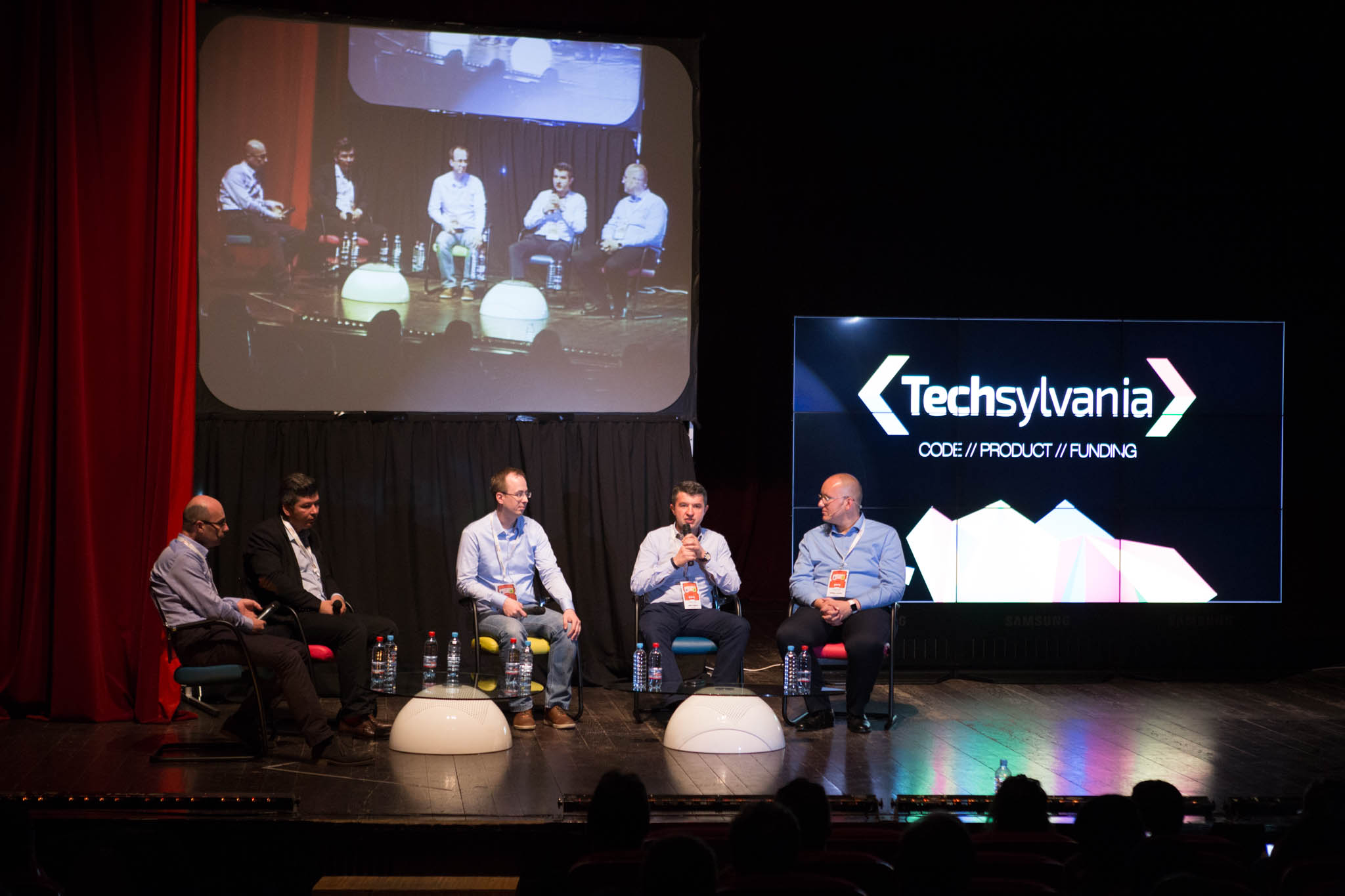Fortech CEO at Techsylvania Cluj. Pannel talk on cluj tech ecosystem.