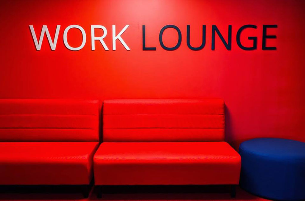Work lounge at new headquarter