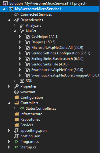 Custom Visual Studio Template
