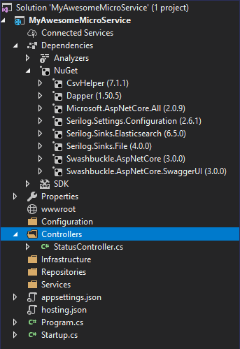 Visual Studio Template Base
