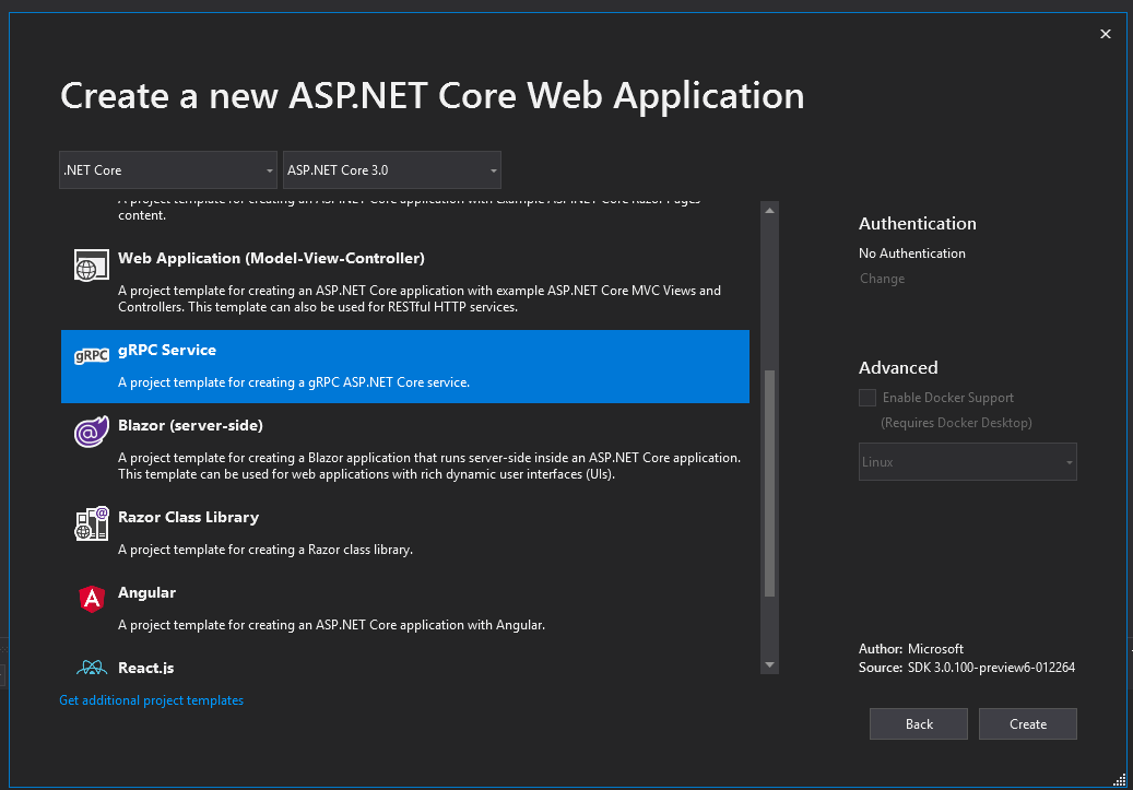 Create a New ASP.NET Core Web Application with gRPC Service | Fortech